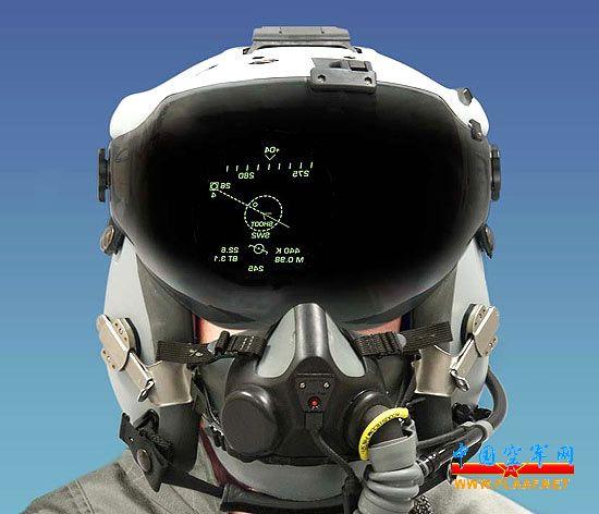 中国空军飞行头盔全接触