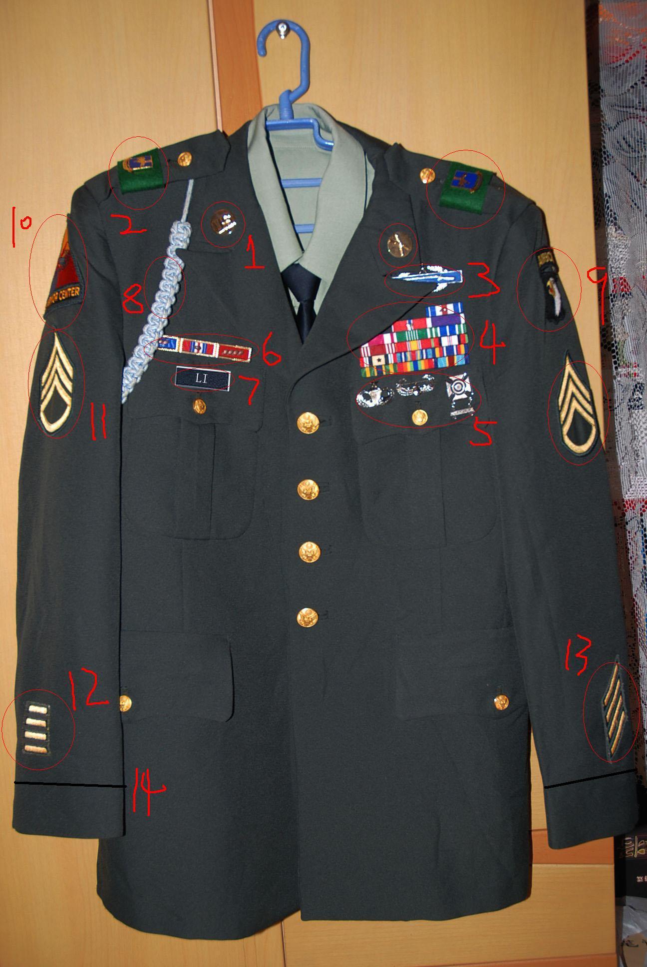 美国陆军常服及配饰相关知识图片