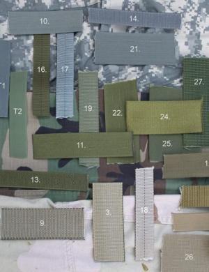 战甲科谱:常见军规尼龙织带标准及样品展示