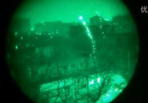 PVS-14 三代半夜视仪观看春节烟花