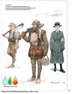 第一次世界大战英国军服图册——东线篇
