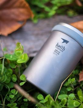 #战甲团# 铠斯 keith 纯钛制运动水杯/泡茶杯/便携咖啡杯团购活动